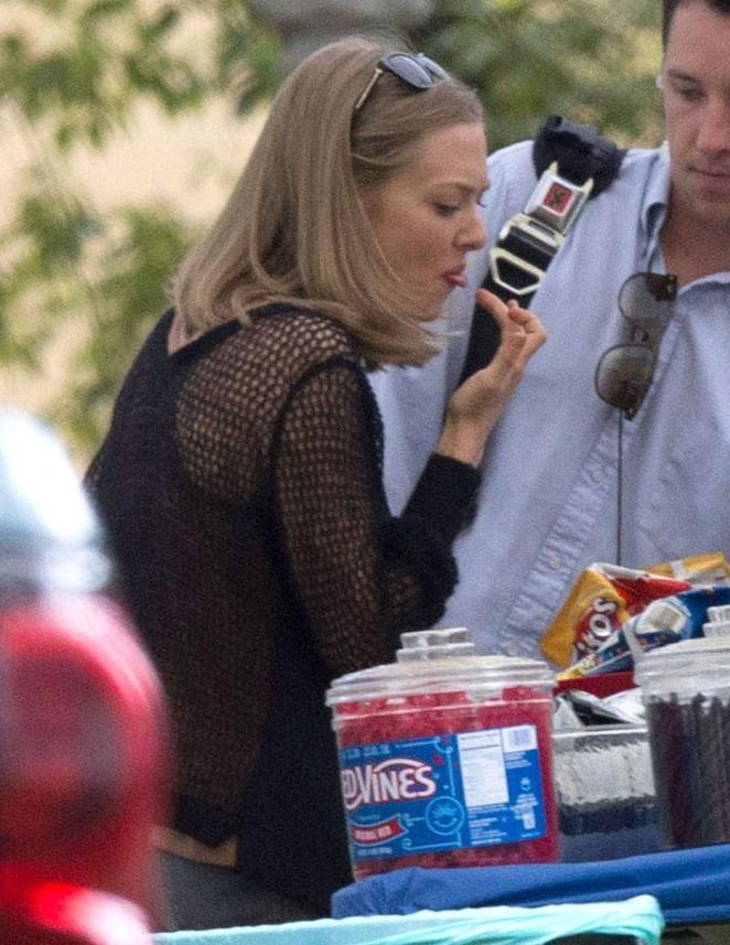 Amanda Seyfried – Filming 'The Last Word' in Los Angeles
