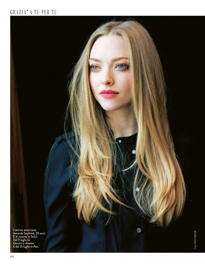 Amanda Seyfried - Grazia Italy Magazine (July 2015)