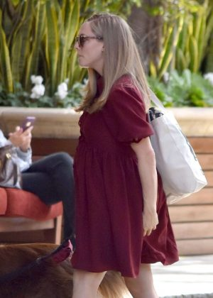 Amanda Seyfried Head to a Hotel in Beverly Hills