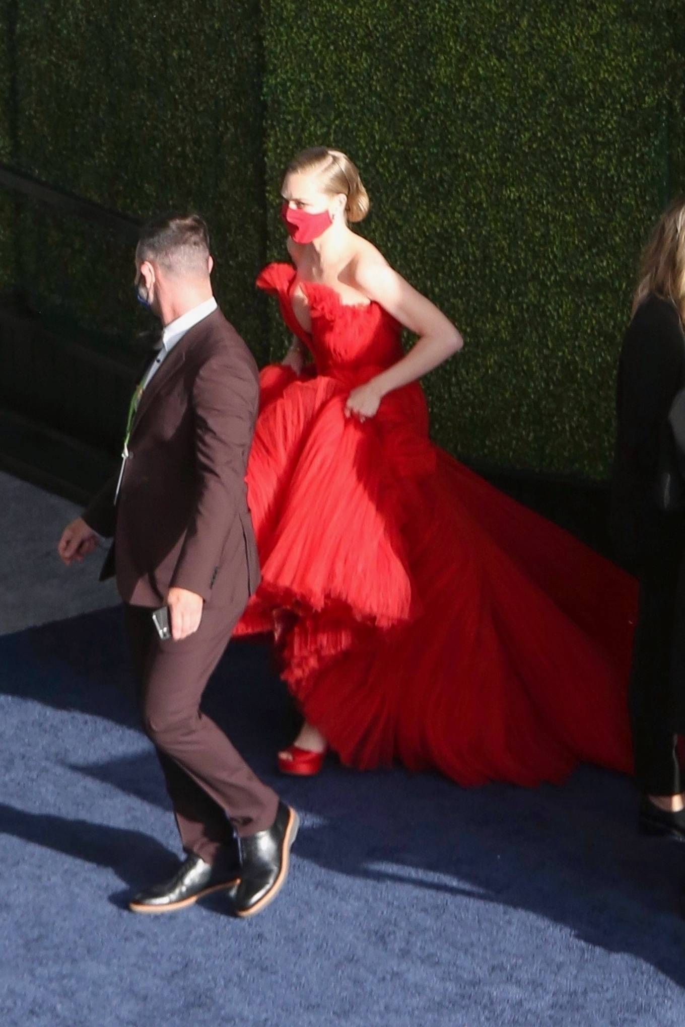 Amanda Seyfried 2021 : Amanda Seyfried – In a long red dress at 2021 Annual Academy Awards at Union Station in Los Angeles-05