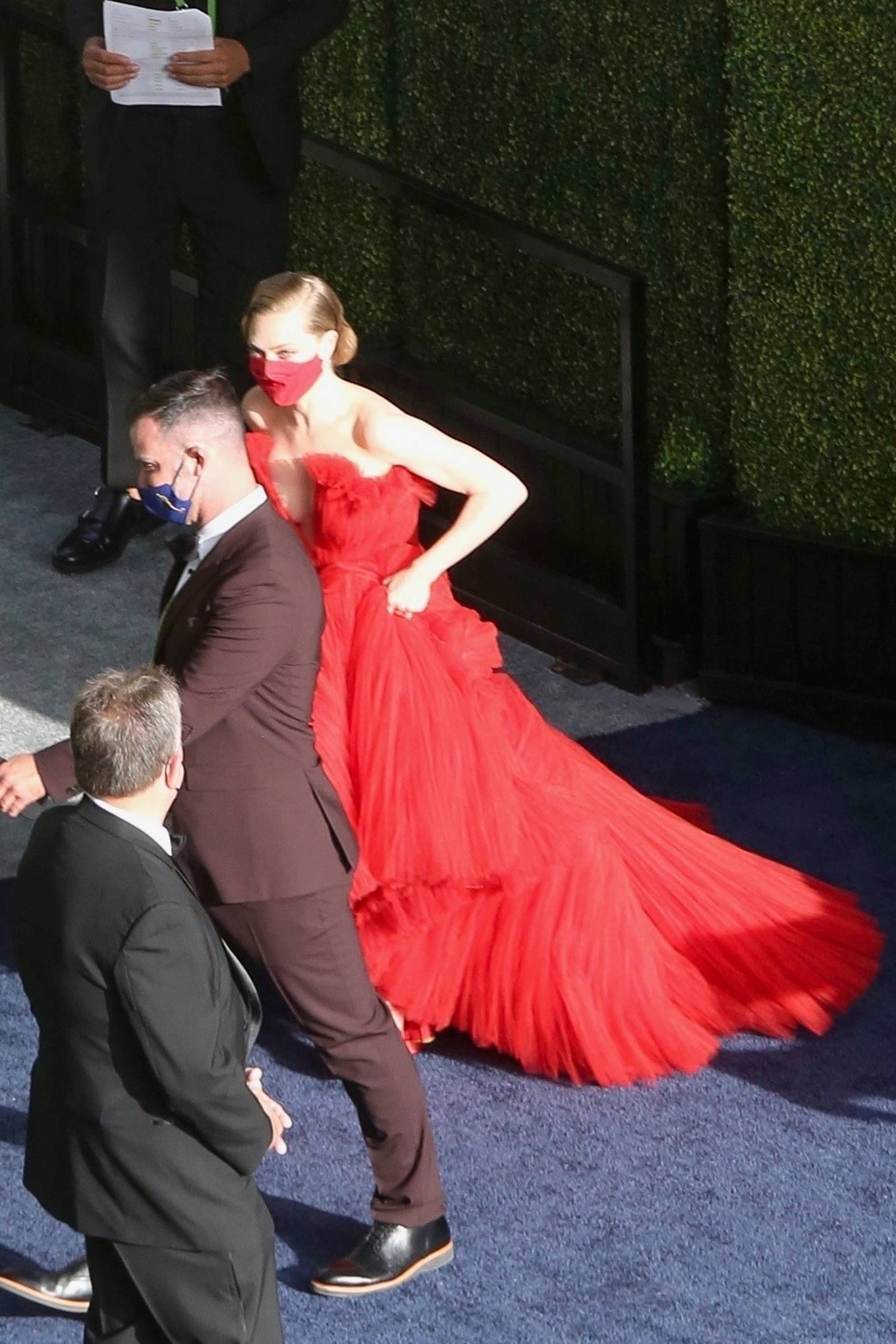 Amanda Seyfried 2021 : Amanda Seyfried – In a long red dress at 2021 Annual Academy Awards at Union Station in Los Angeles-09