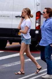 Amanda Seyfried in Denim Shorts - Out in Manhattan
