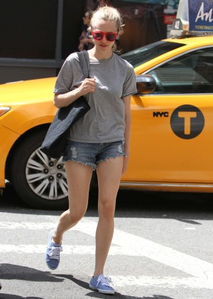 Amanda Seyfried in Jeans Shorts Out in NYC