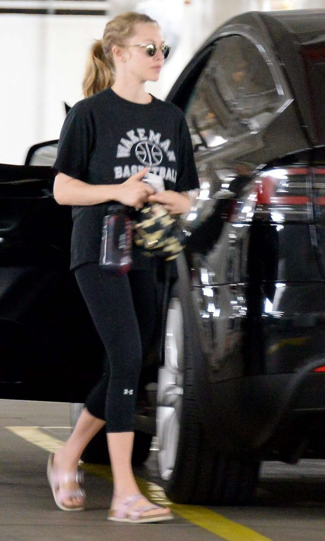 Amanda Seyfried in Leggings Out in Beverly Hills