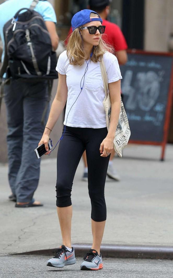Amanda Seyfried in Leggings out in NY