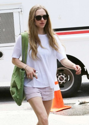 Amanda Seyfried in Shorts Out in New York