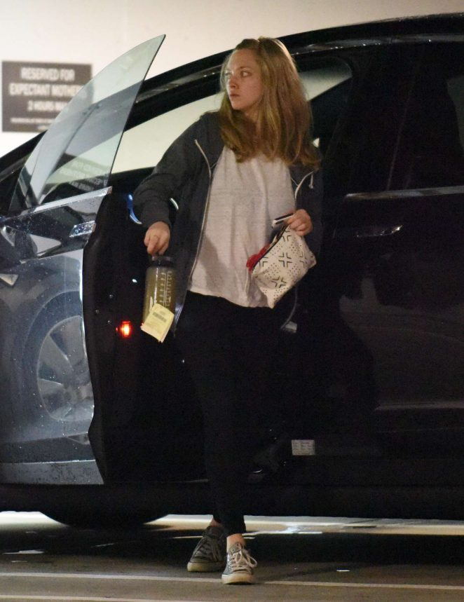 Amanda Seyfried is seen parking out in Beverly Hills