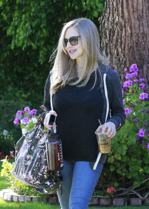 Amanda Seyfried Leaving a friends house in Studio City