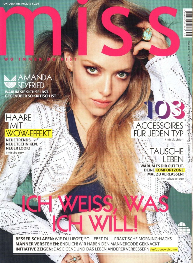 Amanda Seyfried - Miss Austria Magazine (October 2015)