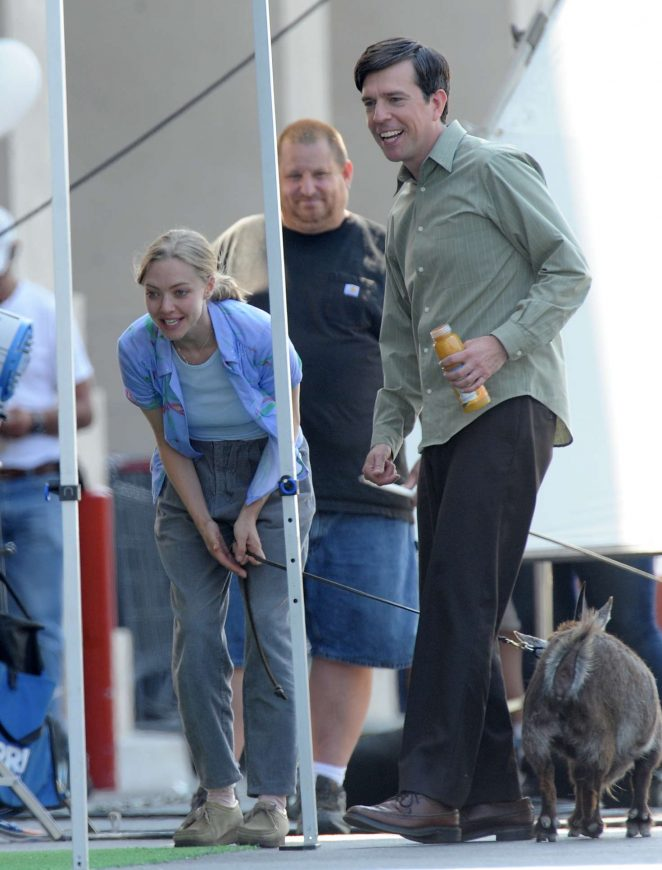 Amanda Seyfried on 'The Clapper' set in Highland Park