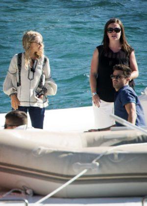 Amanda Seyfried on the set of 'Mamma Mia! 2' in Croatia