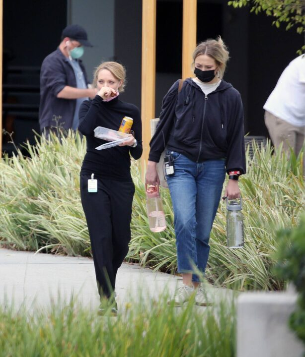 Amanda Seyfried - on the set of 'The Dropout' in Los Angeles