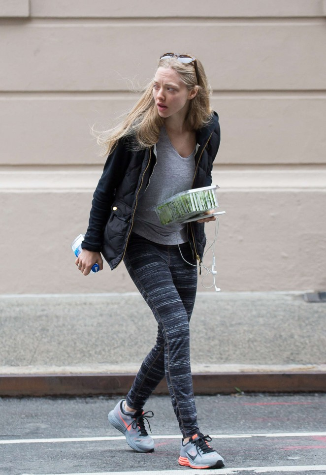 Amanda Seyfried in Leggings Out in NYC
