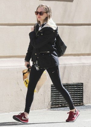 Amanda Seyfried in Spandex Out in NYC