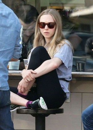 Amanda Seyfried in Leggings Out in Los Feliz