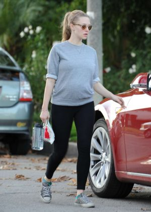 Amanda Seyfried out to grab coffee in Studio City