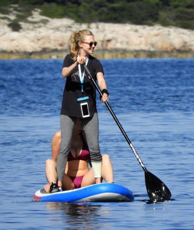 Amanda Seyfried - Paddleboard in Croatia
