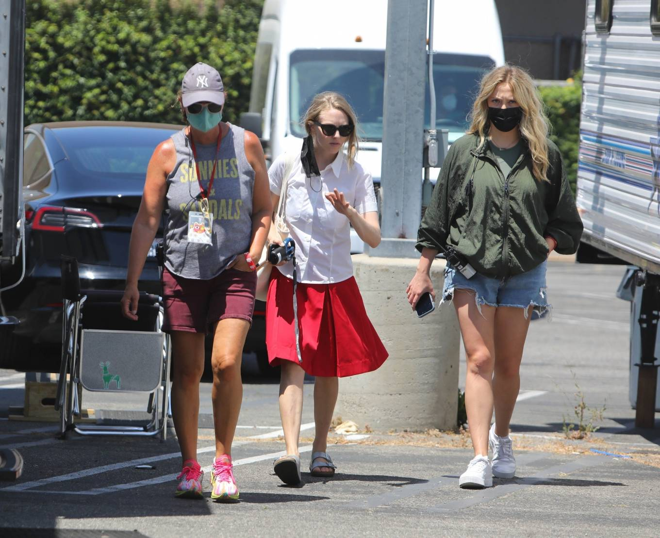 Amanda Seyfried - Pictured on the set of HULU's 'The Dropout' in Los Angeles