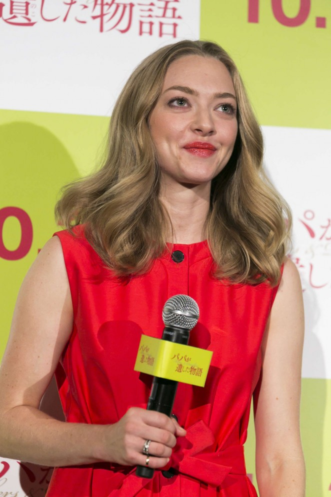 Amanda Seyfried – Promotional Event For Fathers and Daughters in Tokyo