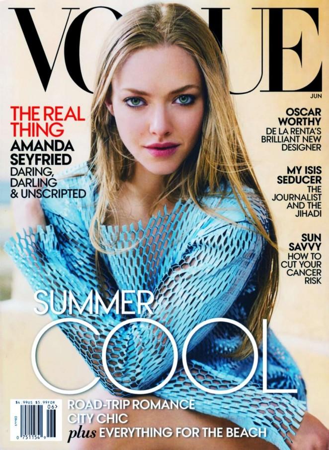 Amanda Seyfried – Vogue US Magazine Cover (June 2015)