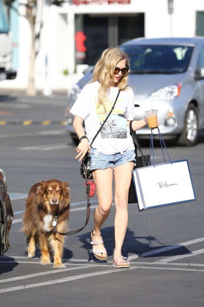 Amanda Seyfried - Walking her dog in West Hollywood
