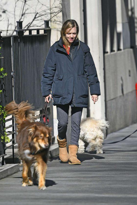 Amanda Seyfried: Walks her dog in New York -03