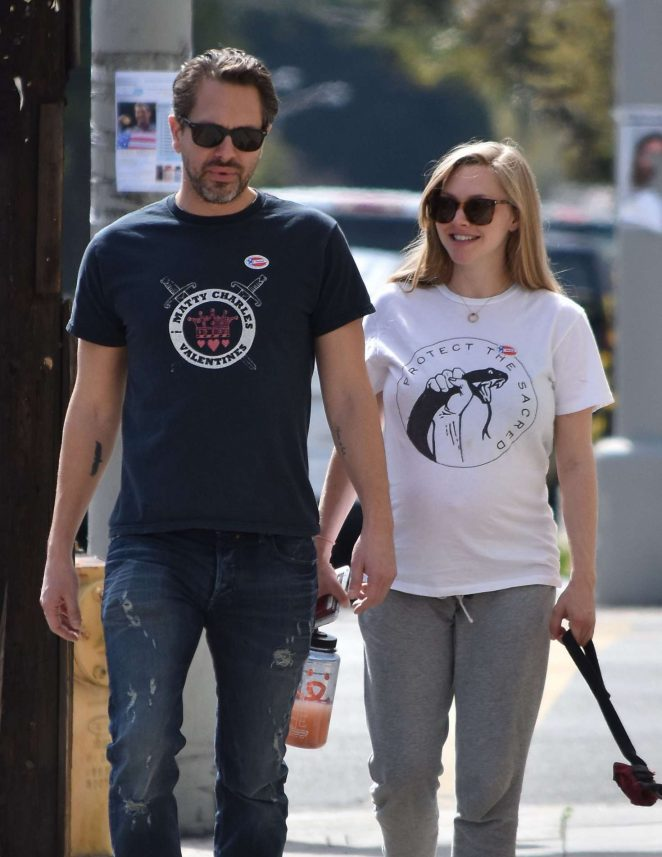 Amanda Seyfried with fiance Thomas Sadoski out in Los Angeles