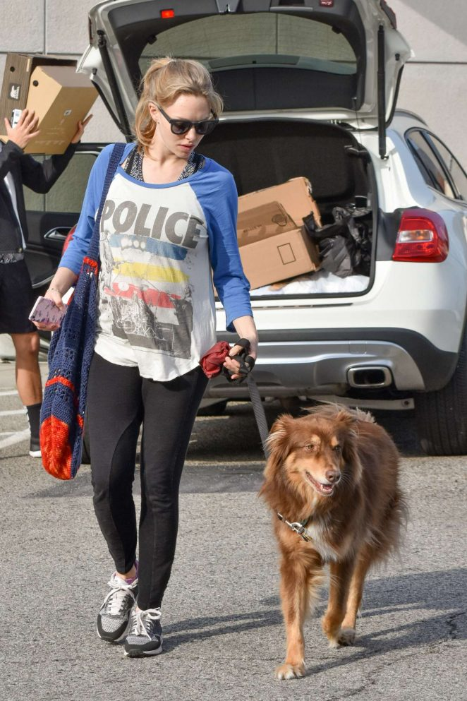 Amanda Seyfried With Her Dog Finn in Los Angeles