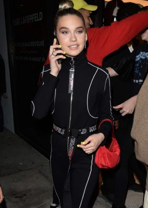 Amanda Steele - Arrives at the Revolve Presents Karl Lagerfeld x Kaia Launch in LA