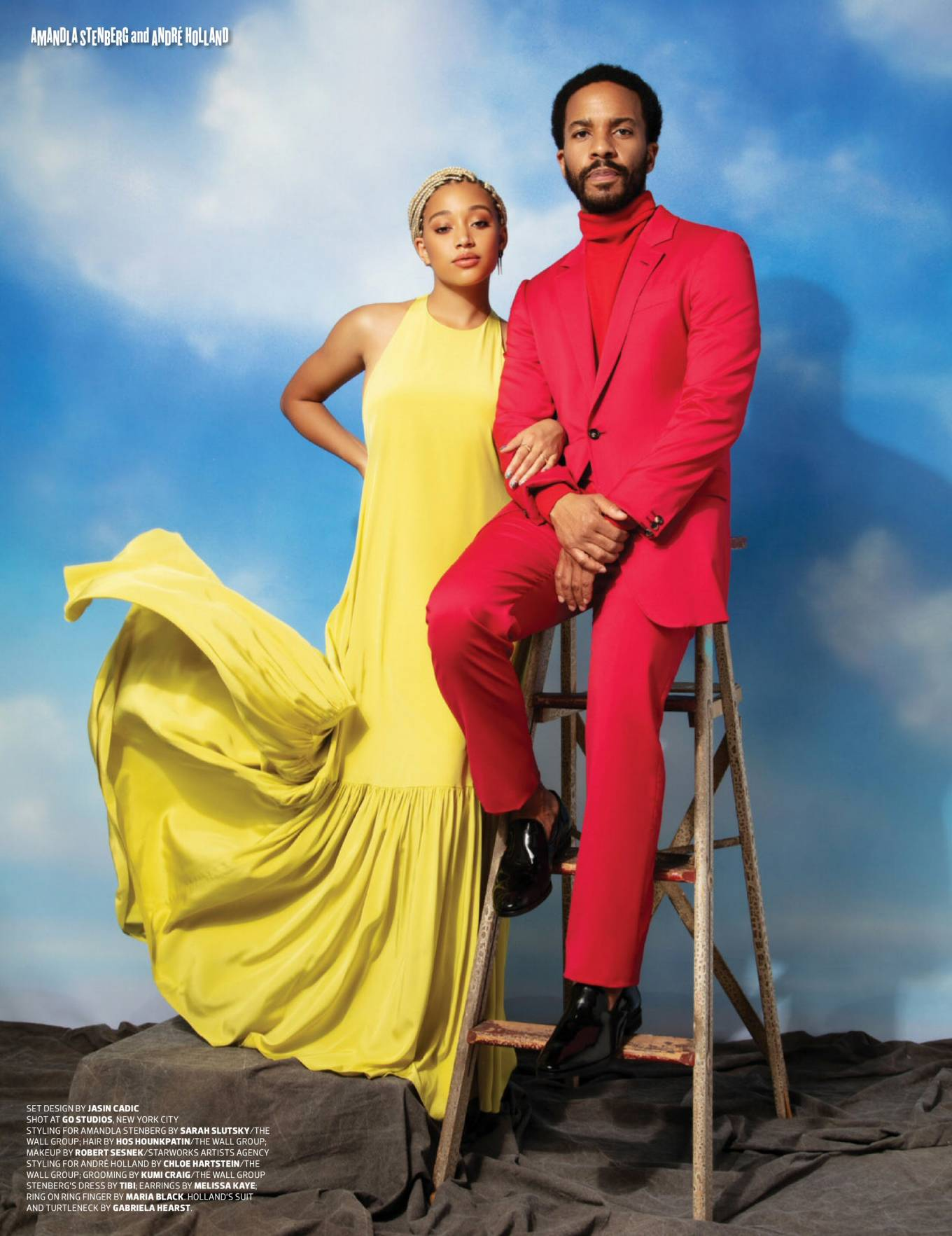 Amandla Stenberg and Andre Holland - Emmy Magazine (May 2020)