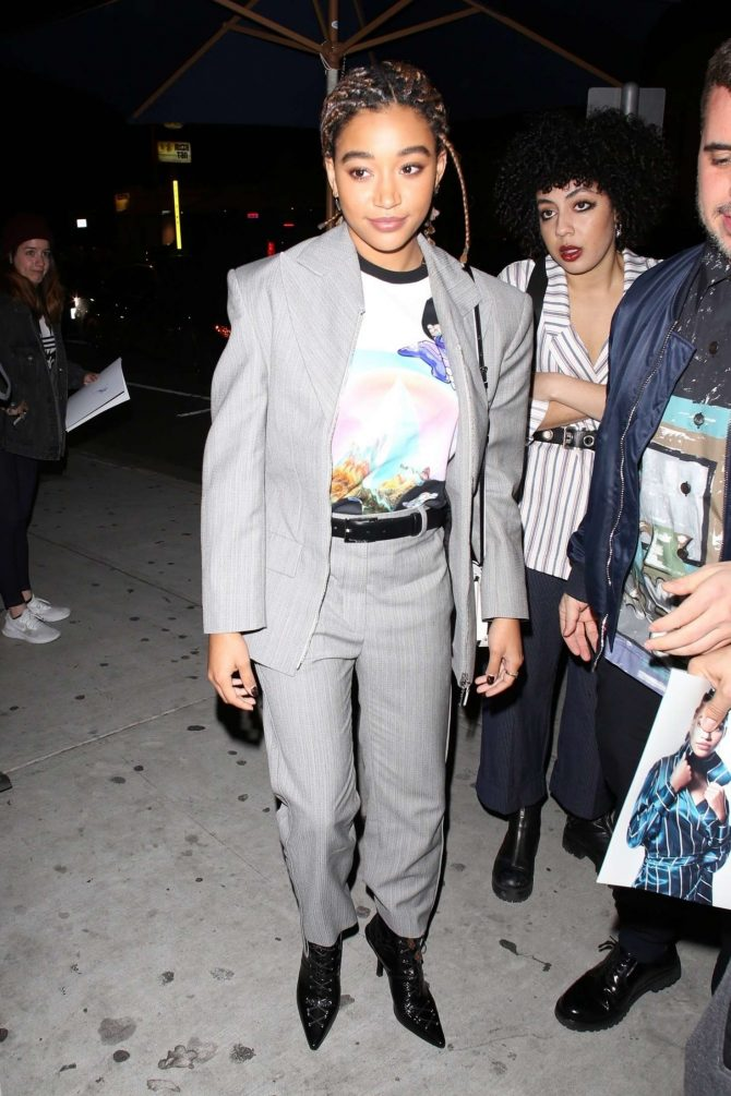 Amandla Stenberg - Arrives for the Vanity Fair Party in LA