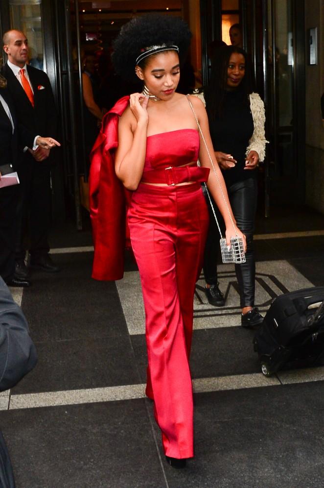 Amandla Stenberg - Arriving at 2016 Met Gala in NYC