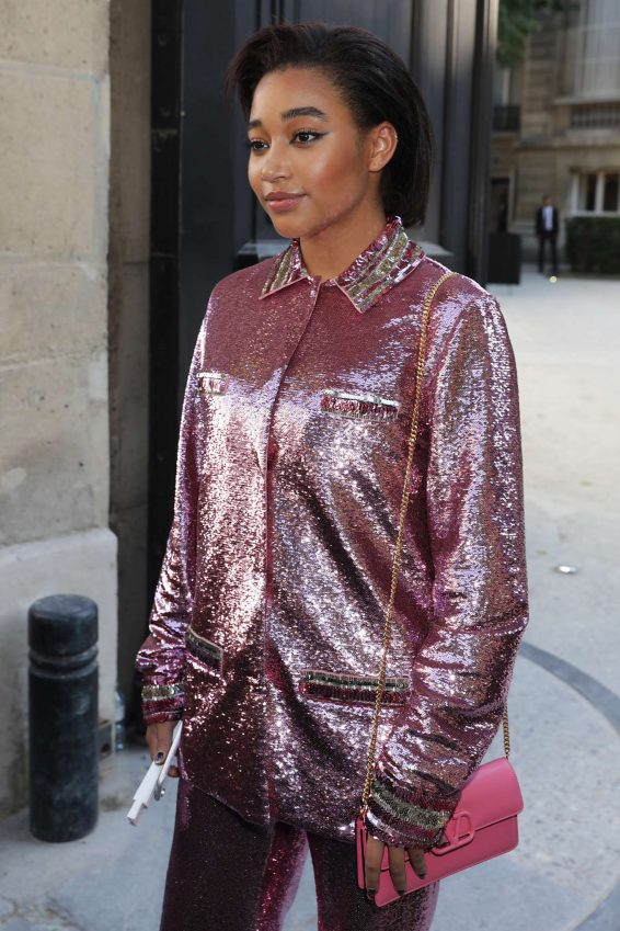 Amandla Stenberg - Leaving the Maison Valentino Fall 2019 Show in Paris