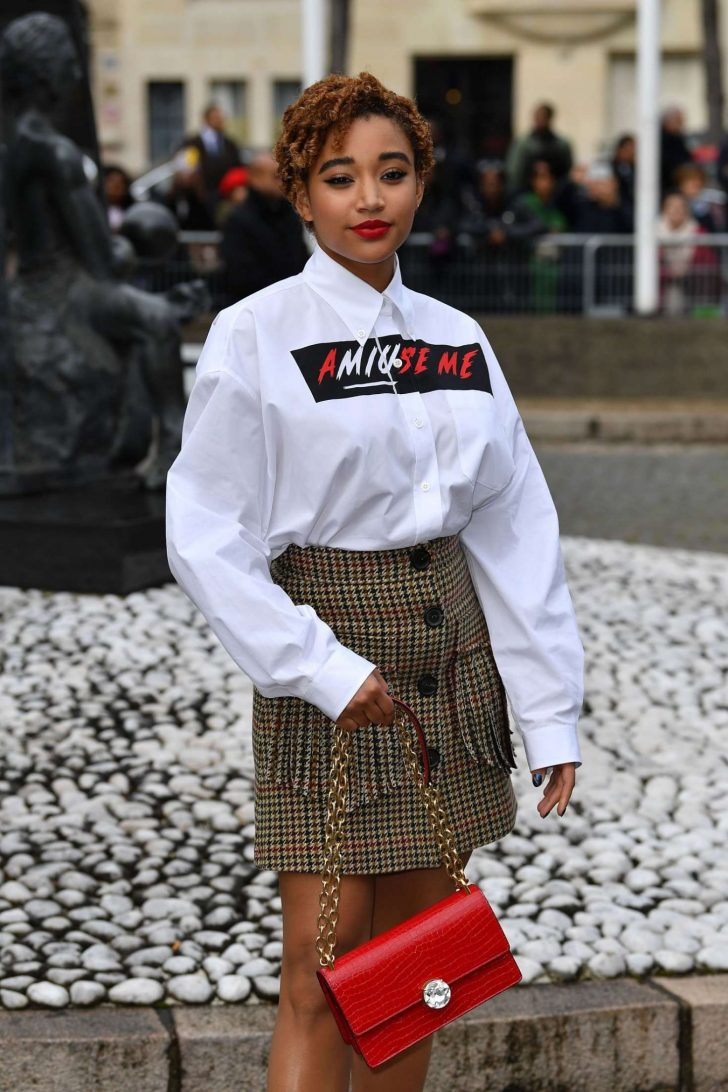 Amandla Stenberg - Outside Miu Miu Show in Paris