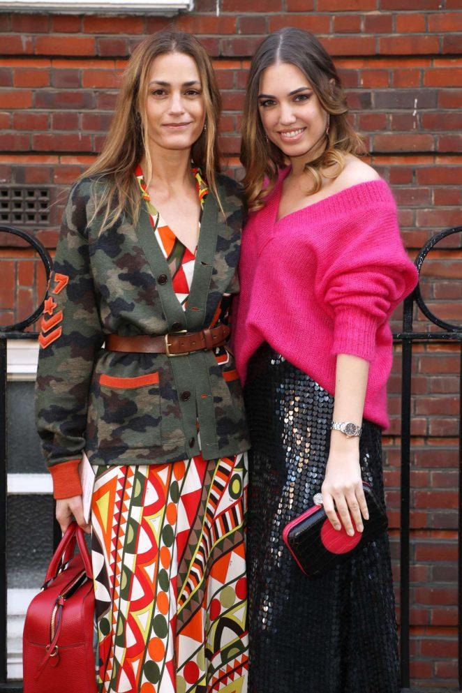 Amber and Yasmin Le Bon - Temperley Fashion Show 2018 in London