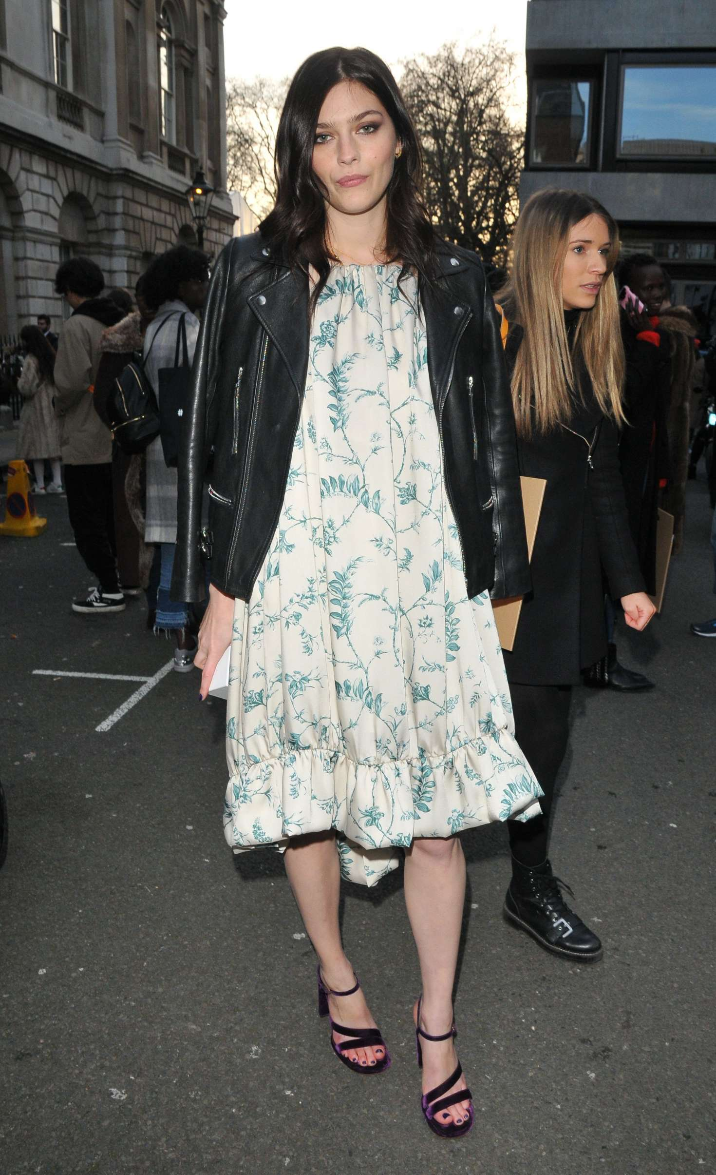 Amber Anderson - Arrives at Mulberry Show 2018 in London