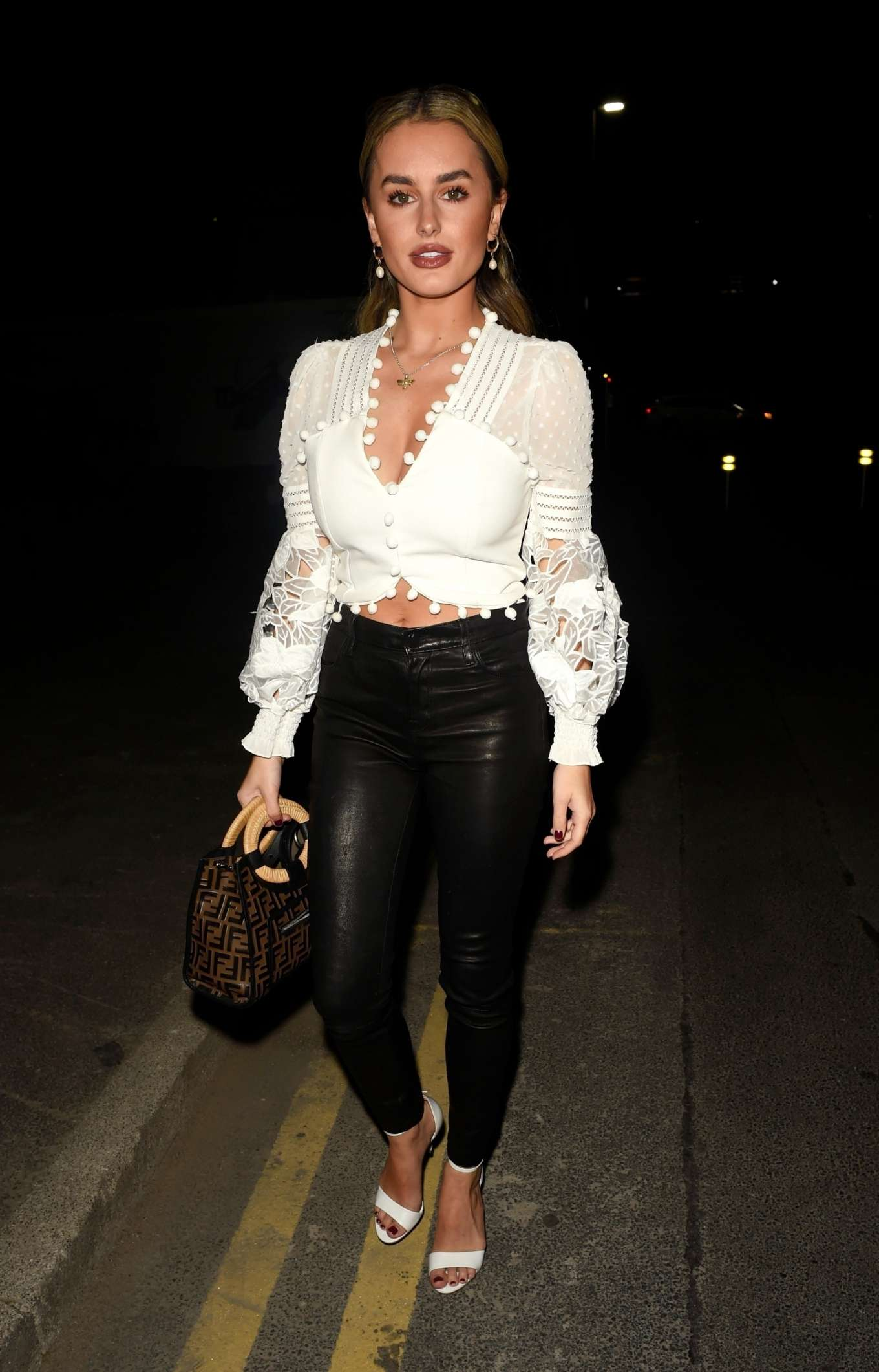 Amber Davies - Night out at Menagerie Restaurant and Bar in Manchester