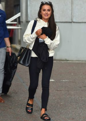 Amber Davies - Spotted leaving the ITV Studios