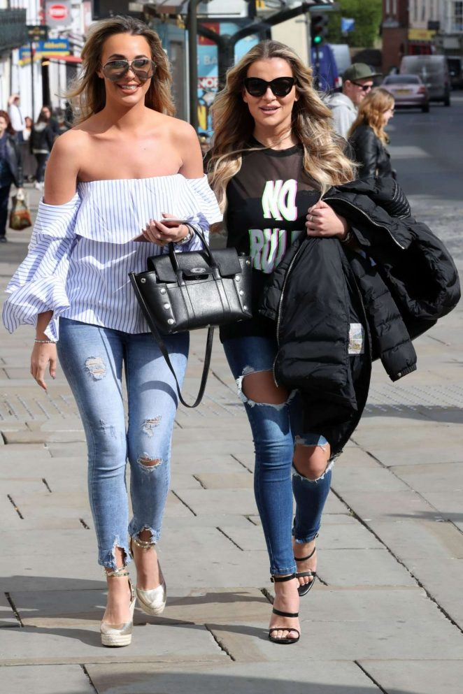 Amber Dowding and Georgia Kousoulou out in Colchester