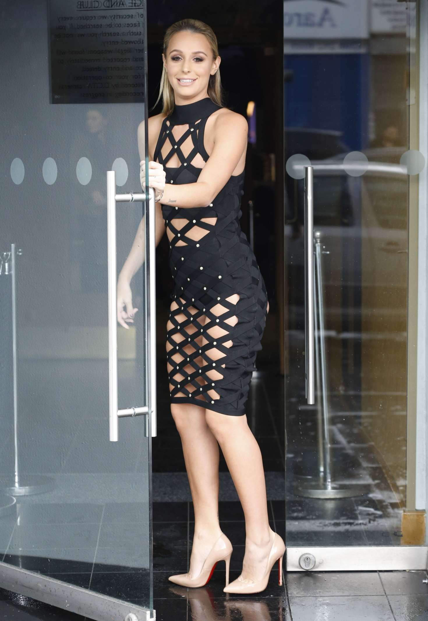 Amber Dowding Arriving To Film At Faces Night Club 07