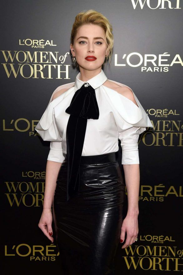 Amber Heard - 14th Annual L'Oreal Paris Women Of Worth Awards in New York City