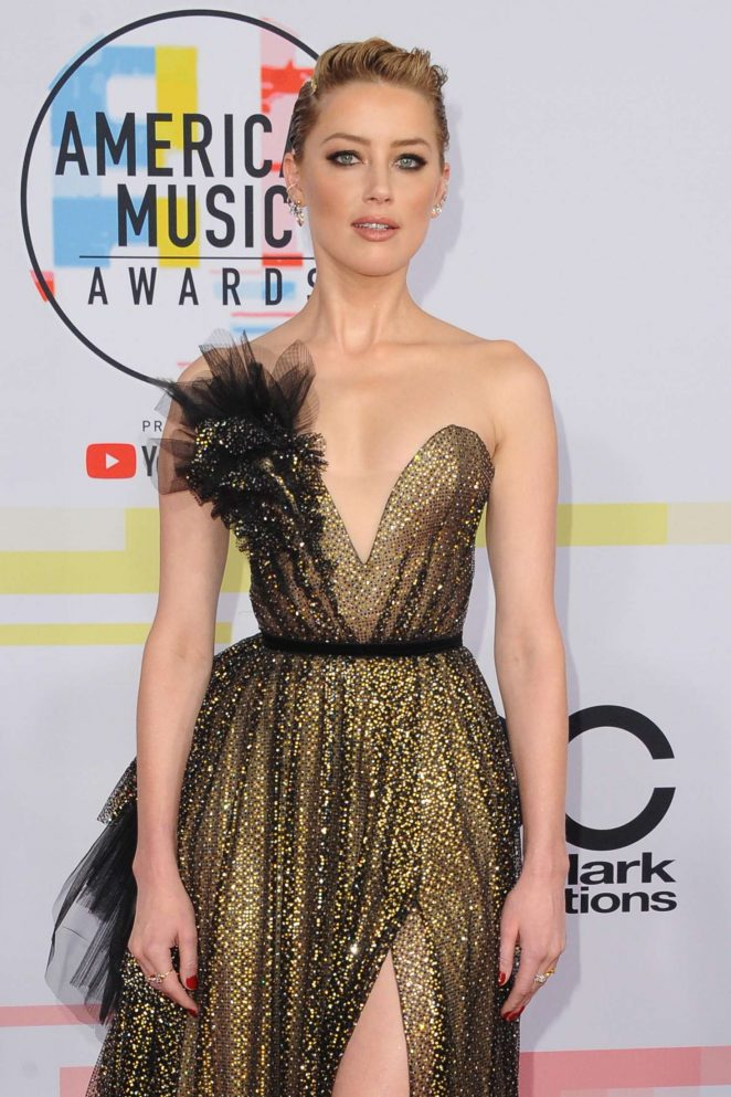 Amber Heard – 2018 American Music Awards in Los Angeles