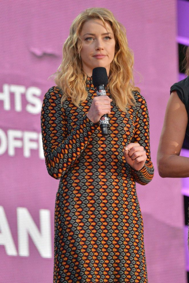 Amber Heard - 2018 Global Citizen Festival: Be The Generation in NYC
