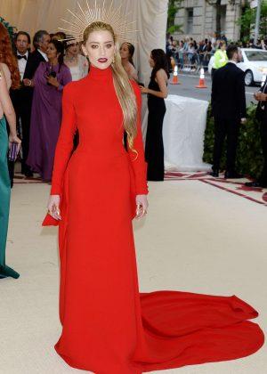Amber Heard - 2018 MET Gala in NYC