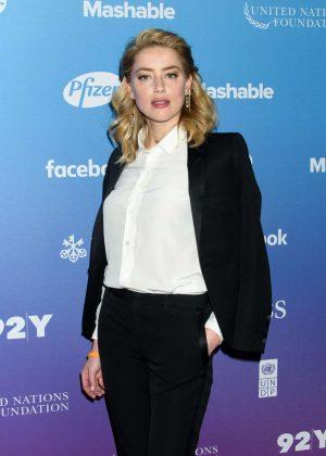 Amber Heard - 2018 Social Good Summit in New York