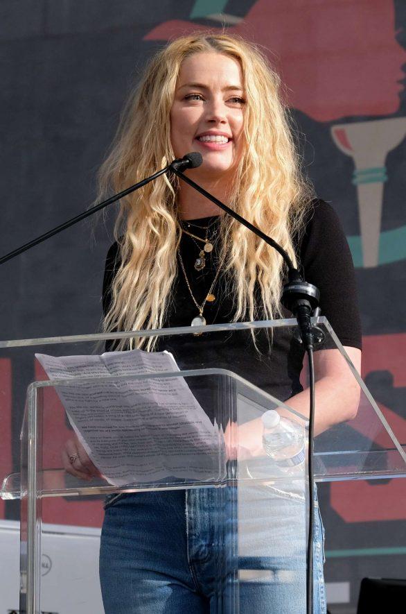 Amber Heard - 4th Annual Women's March LA: Women Rising in Los Angeles