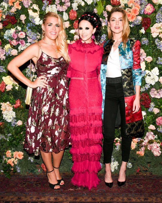 Amber Heard - Alice and Olivia x Ecco Domani designer label launch in NY