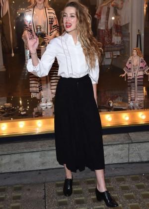 Amber Heard: Alice In Wonderland Themed Window Unveiling -01