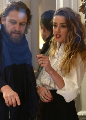 Amber Heard: Alice In Wonderland Themed Window Unveiling -10