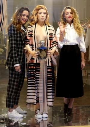 Amber Heard: Alice In Wonderland Themed Window Unveiling -15
